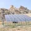 Kastabala Kalesi, güneş enerjisi ile aydınlanıyor