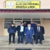 Nurettin Mart Ellek Kasabasının başarılı lisesini ziyaret etti