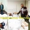 Nurettin Mart hastanede tek tek Ellekli hastaları ziyaret etti